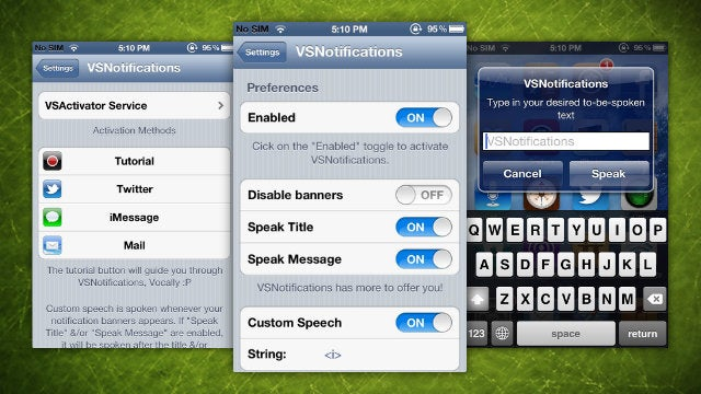VSNotifications Reads iPhone Banner Notifications Out Loud
