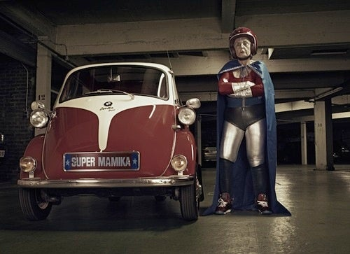 Super Grandma Travels by Isetta