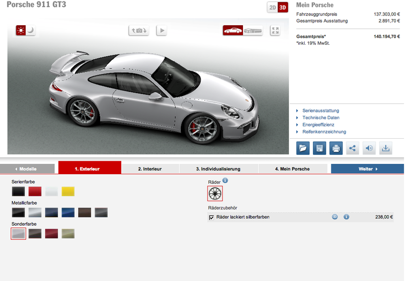 991 GT3 Configurator is live! [EDIT: Everyone already knows]