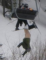 Pantsless Ski Man Finally Finds Someone Who Won't Laugh At Him
