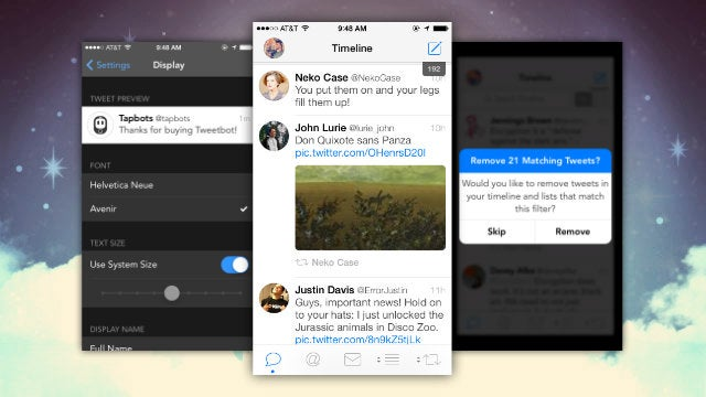 Tweetbot Adds a New Font Option, Larger Thumbnails, and Better Muting