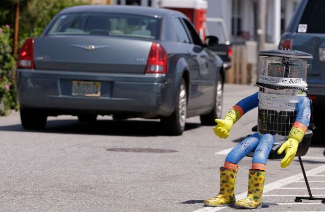 HitchBOT Was A Literal Pile Of Trash And Got What It Deserved