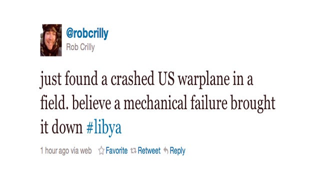 U.S. Fighter Jet Crashes in Libya (Updated)