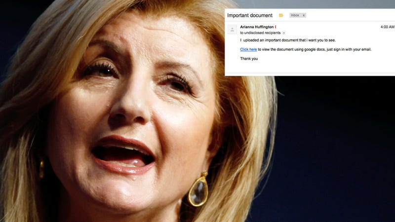 Arianna Huffington Has Been Hacked