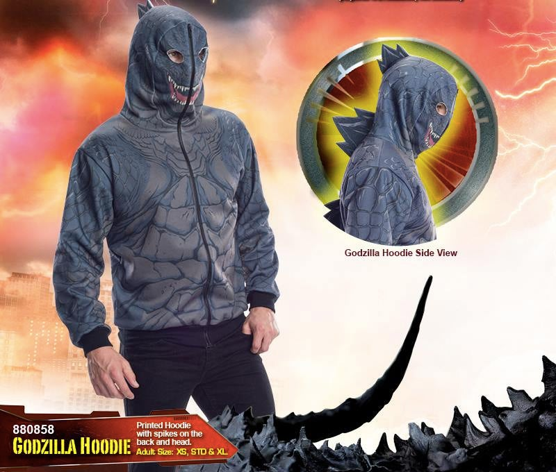 Spiked Godzilla Hoodie Lets You Live Out Your Destructive Fantasies