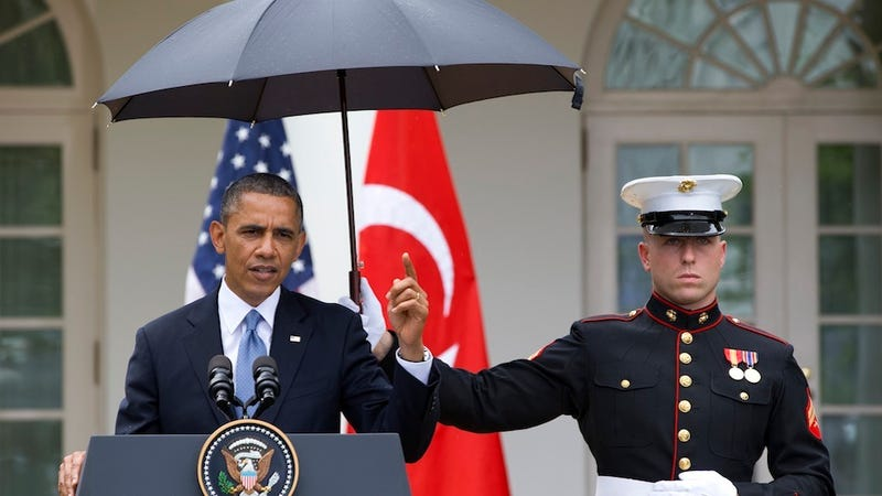 Obama Can't Even Avoid the Rain Without Causing a Scandal