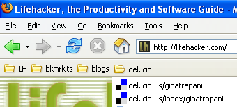 Save bookmarks toolbar real estate with folders