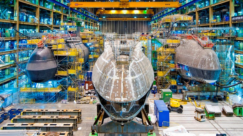 This Towering Egg Is the Nose of UK's Next Nuclear Submarine