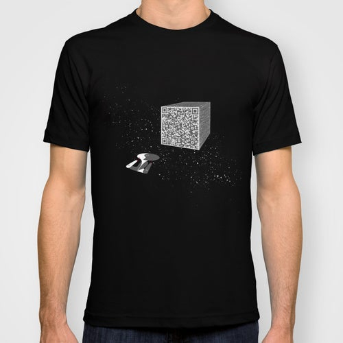 "Borg Cube t-shirt delivers ""Resistance is Futile"" message via QR code"
