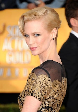 January Jones Recommends A Thick Steel Door To Keep Suitors At Bay