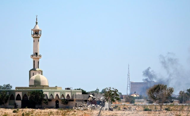 Rebels Are Inside Qaddafi's House