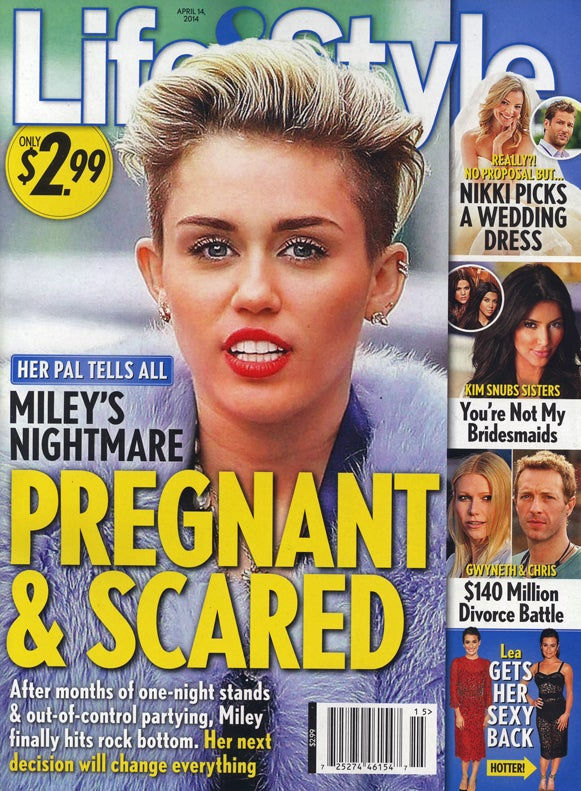 This Week in Tabloids: Miley Is Pregnant, Doesn't Know Who the Dad Is