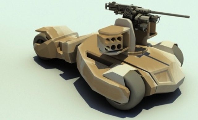 An experimental tank design inspired by The Dark Knight's Batmobile