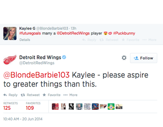 The Detroit Red Wings have some practical advice for a self-pro…