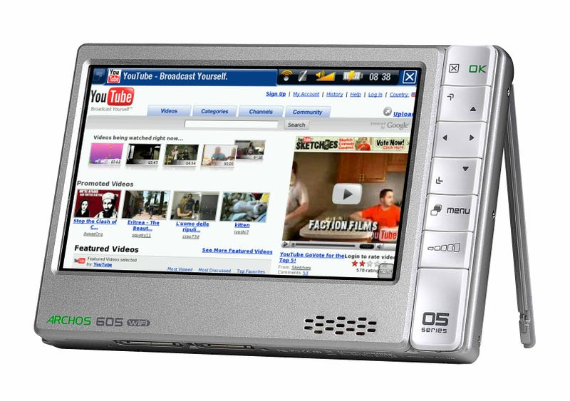 Archos Updates the 605 Wi-Fi With GPS, Mobile TV and Flash Video