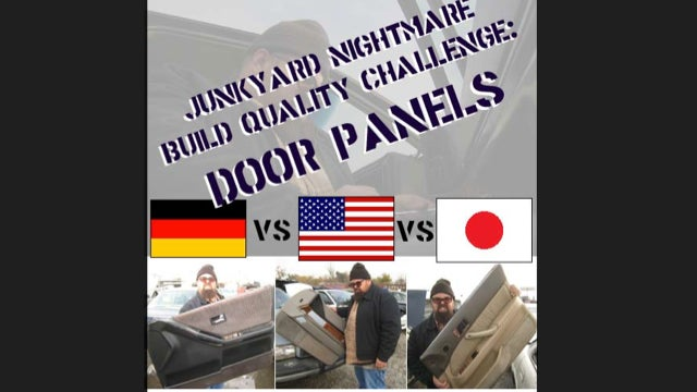 Junkyard Build Quality Challenge, Door Panel Edition: USA vs Germany vs Japan!