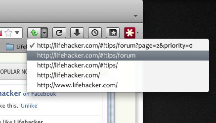 How to Move Up One URL Level in Chrome and Firefox