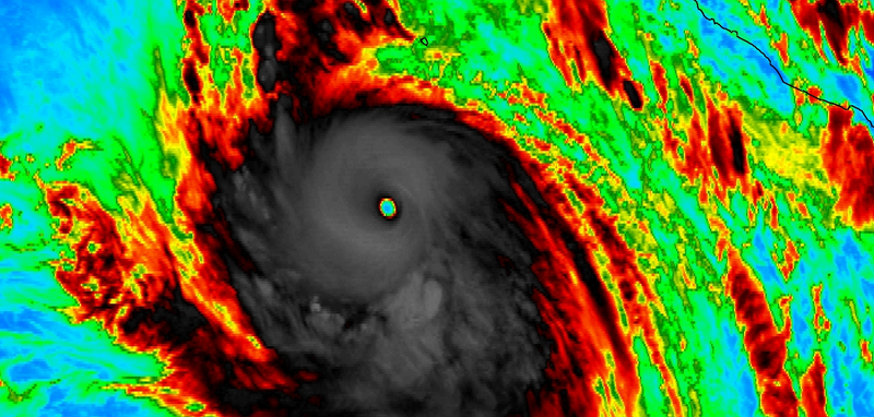 Hurricane Marie Strengthens to a Category 5 off the Mexican Coast