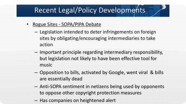 Infuriating RIAA Knew That SOPA and PIPA Were Useless All Along