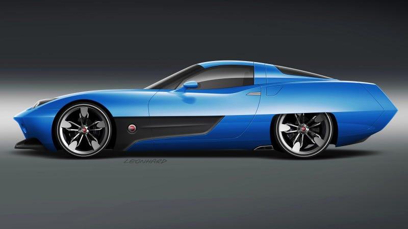 Instant 1960s concept car, just add Corvette