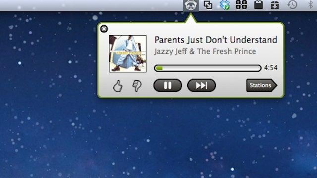 PandaBar Stuffs Pandora in Your Menu Bar