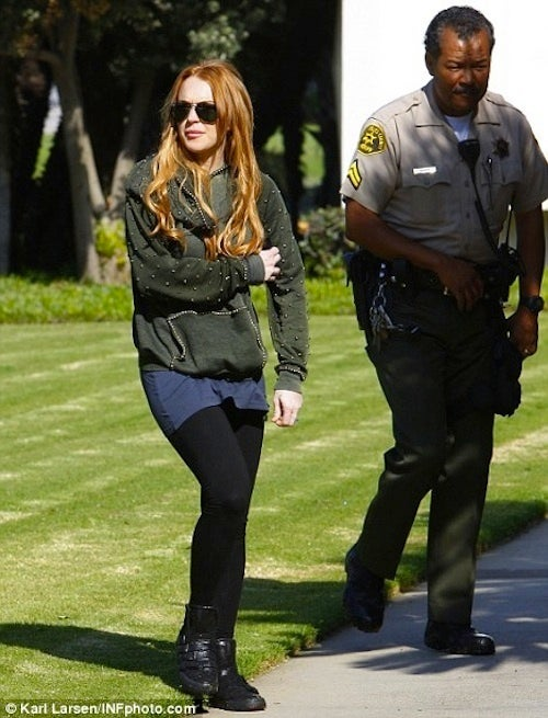 Lindsay Lohan Goes Back In Time With New Red Hair