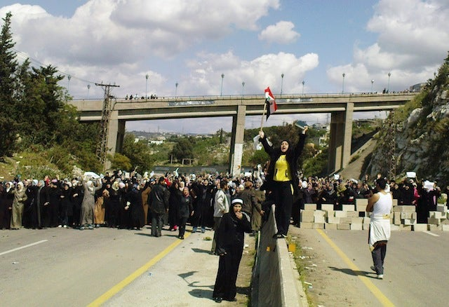 Hundreds Of Syrian Women March In Protest