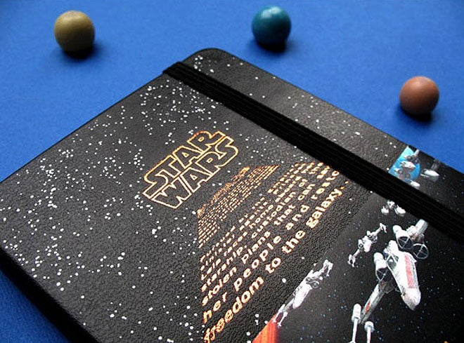 Moleskine launches its Star Wars notebook, with one badass origami TIE fighter space battle