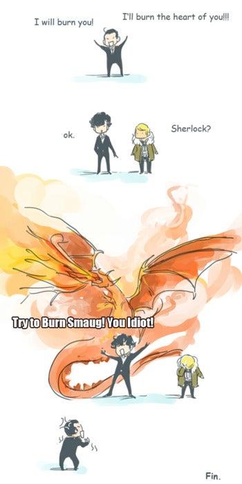 Behold the Smauglock: Half Sherlock, half Smaug, 100% Benedict Cumberbatch!