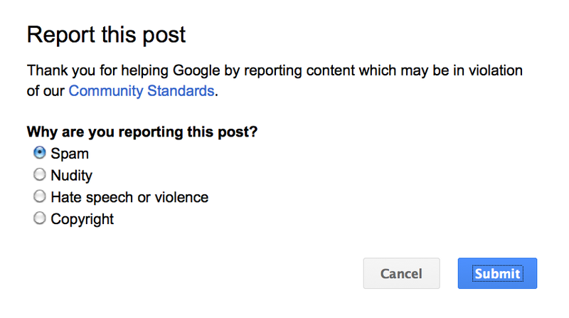 How Should Google+ Stop Sexual Harassment?