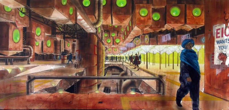 Never-Before-Seen Concept Art from David Cronenberg's Total Recall!