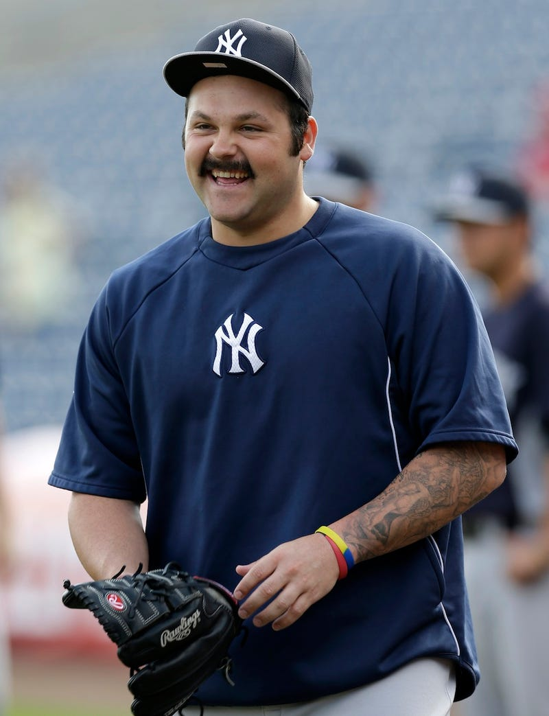 Joba Chamberlain's Mustache Is Coming In Nicely