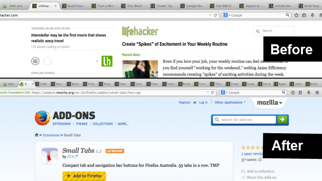 Small Tabs Removes Tab Scrolling and Fits More Tabs in Firefox
