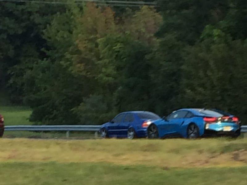 A wild BMW i8 appeared!