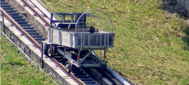 7 Ingenious Trains That Slide Up the Slopes So You Don't Have to