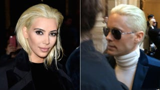 Kim Kardashian and Jared Leto Both Dye Their Hair Platinum Blah