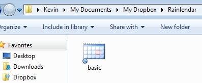 Use Dropbox to Synchronize Multiple Rainlendar Calendars