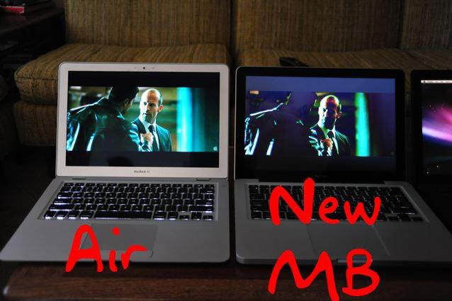 Screen Shootout: MacBook (New) vs. MacBook (Old) vs. MacBook Air