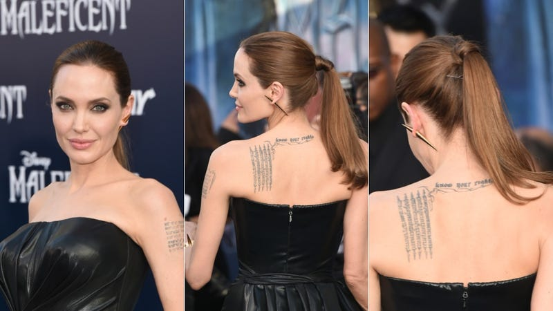 Angelina Jolie Accessorizes Like a Disney Villain