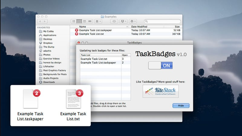 TaskBadges Adds the Number of Uncompleted Tasks to the Icon of Any Text-Based To-Do List for Easy Reference