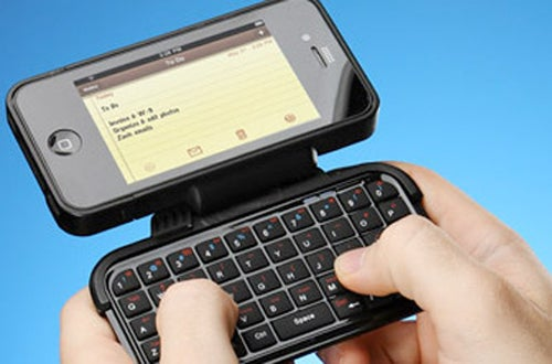 This iPhone Case Packs a QWERTYriffic Flip-Out Keyboard