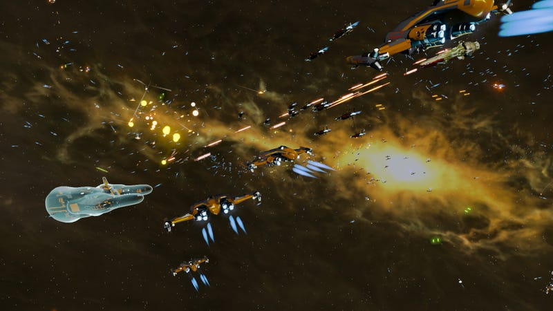 Impressive Tech Demo Pits 10,000 Spaceships Against Each Other