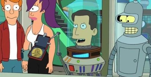 Futurama celebrates the holidays with Al Gore, global Armageddon and oil-wrestling robots