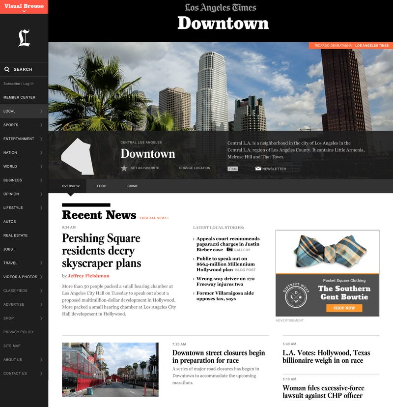 The Reinvented Los Angeles Times Focuses In On L.A.'s 300 Neighborhoods