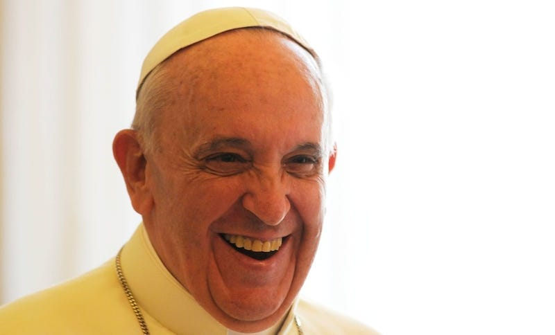 "New ""Nice Pope"" Spends Workday Calling Sad People"