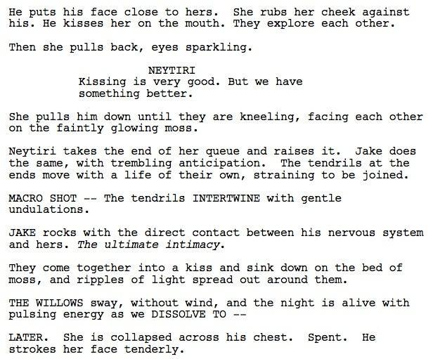 The Avatar Na'vi Sex Scene Revealed