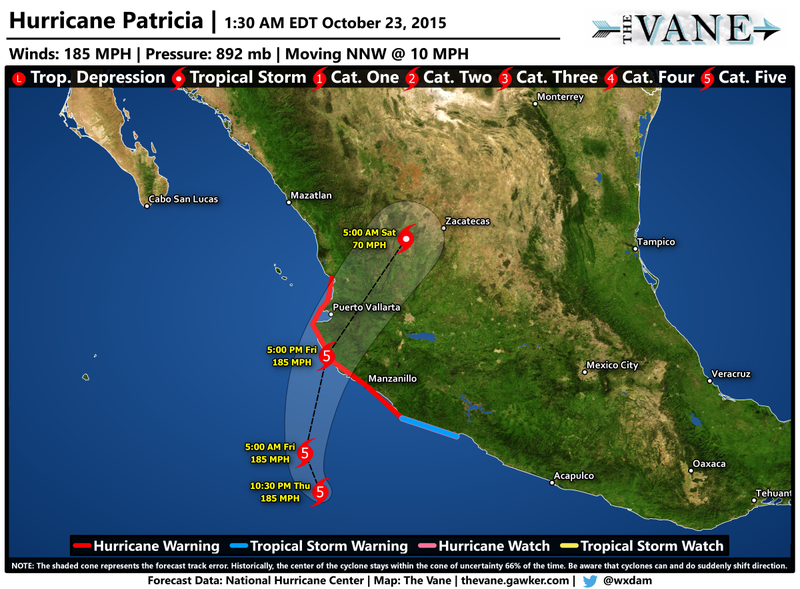Mexico's West Coast in Grave Danger as 'Potentially Catastrophic' Hurricane Patricia Nears