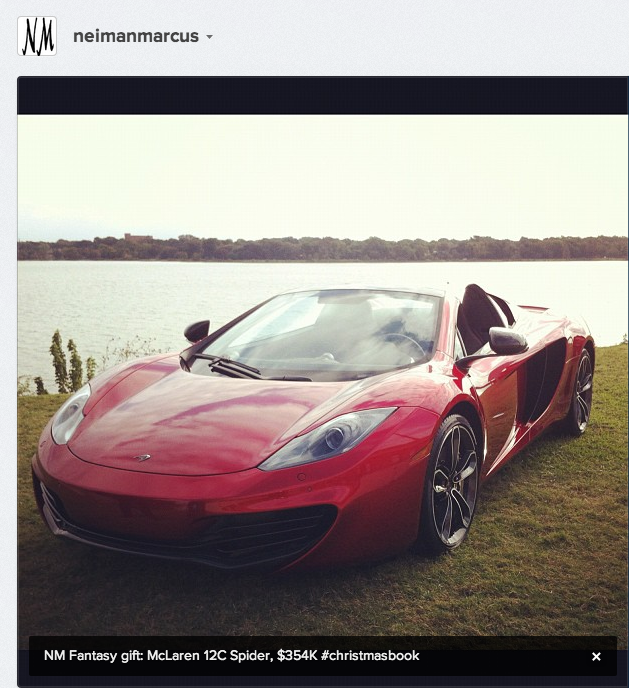This Year's Neiman Marcus Car Is A $354,000 McLaren 12C Spider