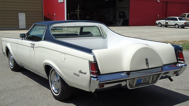 Rancheroized Lincoln Continental is half car, half truck and all luxurious oddity