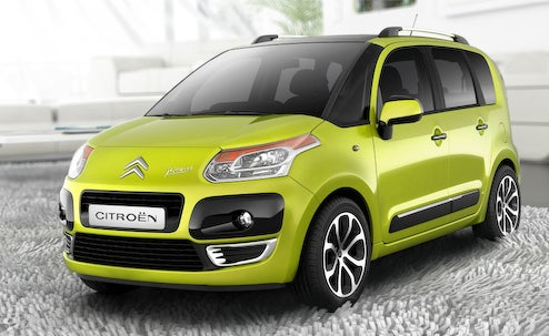 2009 Citroën C3 Picasso Peeks Out Before Paris Motor Show